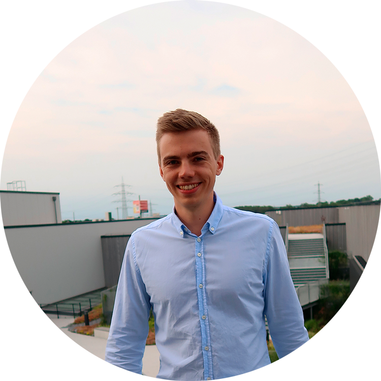 Marius Schober in a photo taken in 2019 wearing a light blue shirt